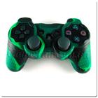 PS3 силиконовый чехол для джойстика (Камуфляж)(Green-Black)