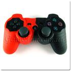 PS3 силиконовый чехол для джойстика (black/red)