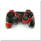 PS3 силиконовый чехол для джойстика (Камуфляж)(Red-black)