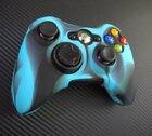 Xbox 360 силиконовый чехол для джойстика (камуфляж)(Blue-black)